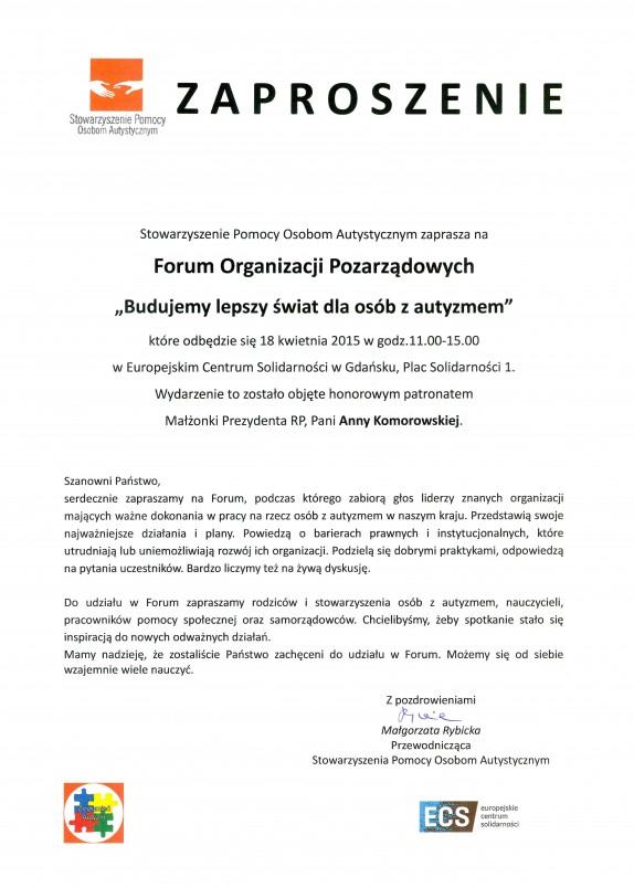 Zaproszenie na Forum I