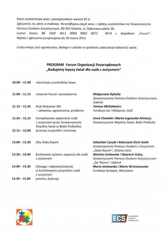 Zaproszenie na Forum II